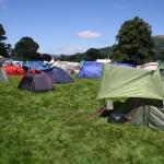 Green Man Festival 2013 – キャンプ・エリア(右がうちのテント)