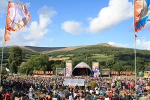 Green Man Festival 2014 - 丘から眺めたメインステージ