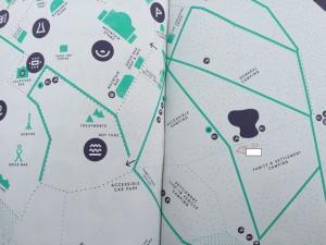 Green Man Festival 2015 - キャンプサイト地図