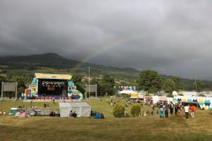 Green Man Festival 2015 - メインステージと虹