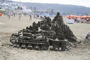 砂のお城。