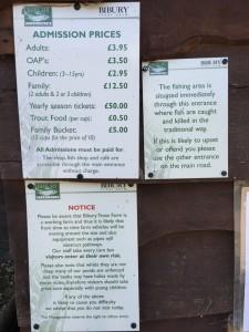 バイブリーでマス釣り&BBQ - 料金