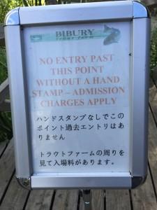 バイブリーでマス釣り&BBQ - 日本語の注意書き