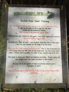 バイブリーでマス釣り&BBQ - マスを釣る時の注意書き