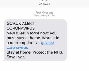 GOV.UK ALERT CORONAVIRUS