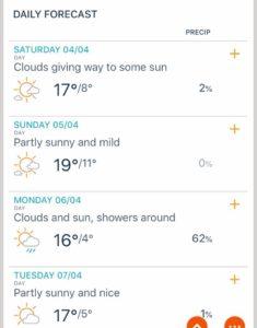 今週の天気